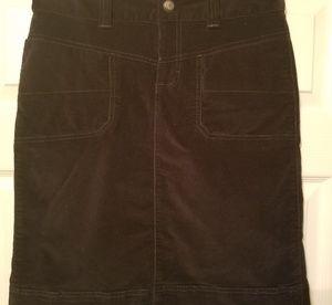 Athleta washed velvet skirt size 6 t